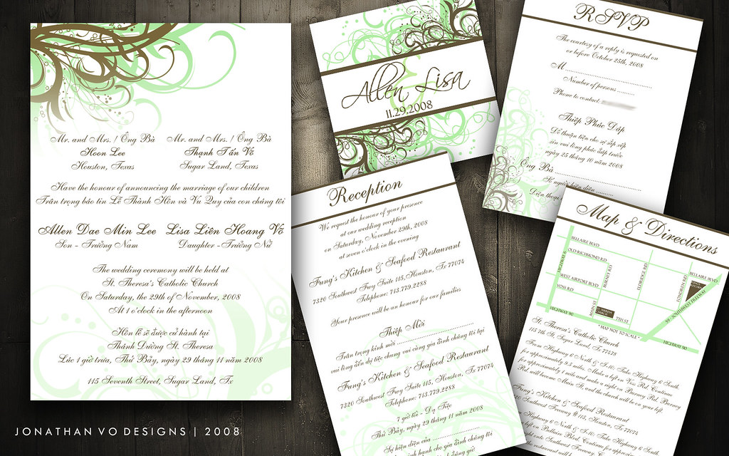 Vietnamese Wedding Invitations   Please contact me for more …   Flickr