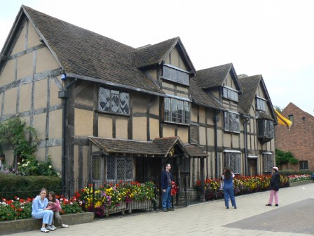 William Shakespeares Birth House Stratford Upon Avon England