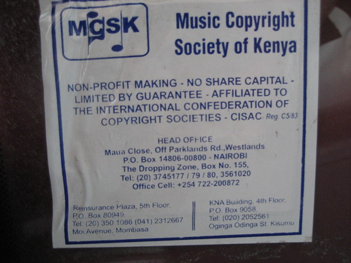 Music Copyright Society of Kenya | by Wayan Vota