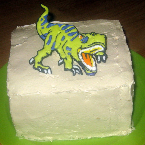 how to make a 3d t rex cake