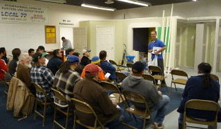 No-Coat cornerbead class with Mark Roberts of Ames Taping