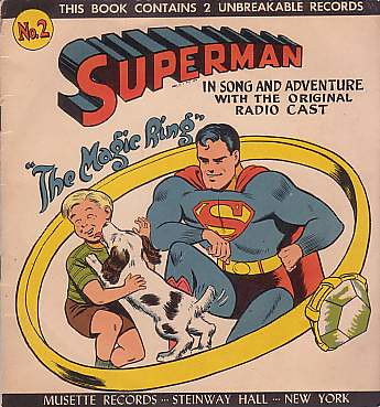Superman, The Magic Ring book | by Cardboard Records