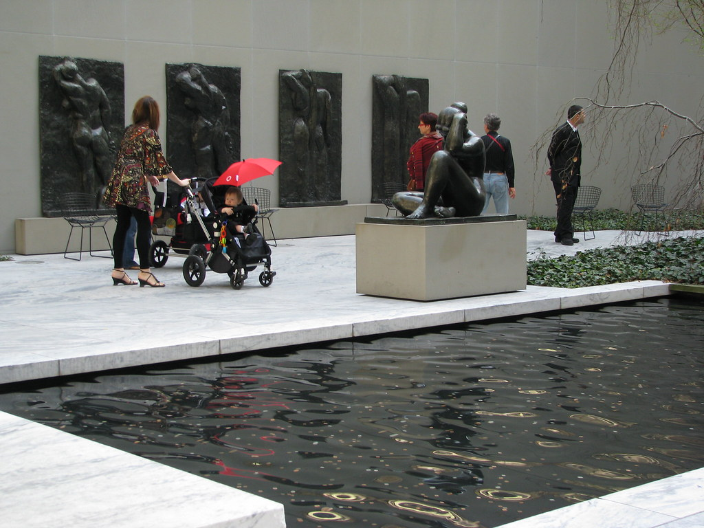 Photo of Henry Matisse's <em>The Back</em> series in MoMA's Abby Aldrich Rockefeller Sculpture Garden