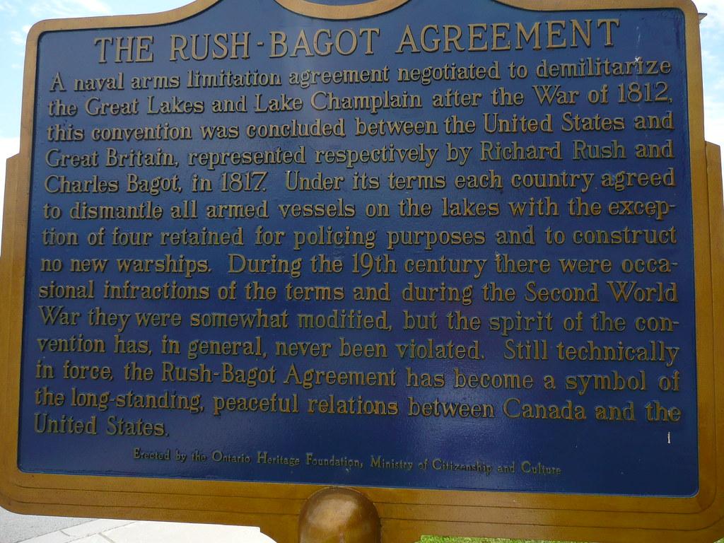 The Rush Bagot Agreement Kingstonist Flickr