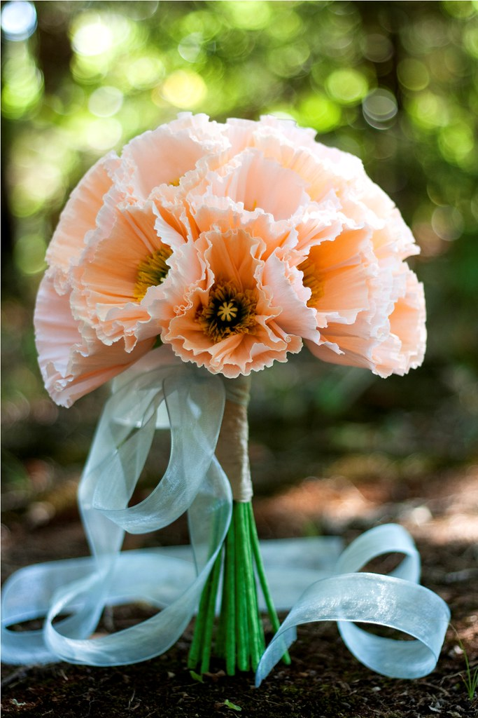 classic paper flower bouquet - iceland poppy   hand-crafted …   Flickr