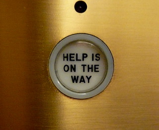 Help is on the way, elevator, Chicago Tribune, Chicago, IL.JPG | by gruntzooki