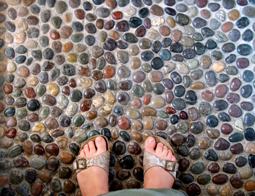 ... Our Pebble Shower Floor | By Geninne