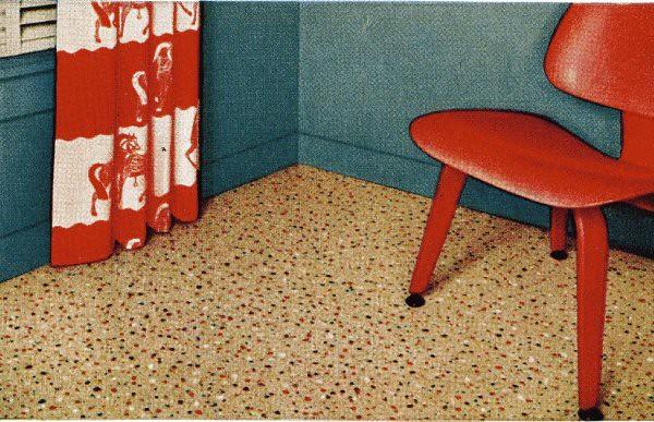 vintage linoleum design - 1952 | vintage linoleum from the f… | flickr