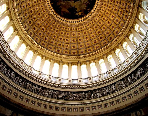 Inside the dome of the U.S. Capitol Building, Washington, D.C. | by o palsson
