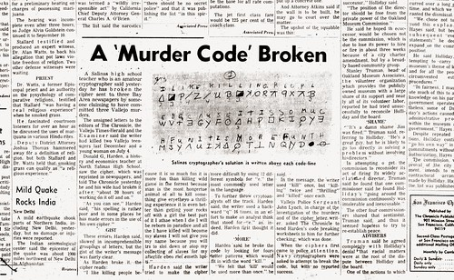 zodiac killer letters the zodiac s code is august 9 1969 flickr 11492 | 2462841231 7d323eb810