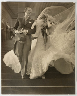 Musical stars Madge Elliott and Cyril Ritchard's wedding, St Mary's Cathedral, Sydney, 16 September 1935 / photograph by Sam Hood | by State Library of New South Wales collection