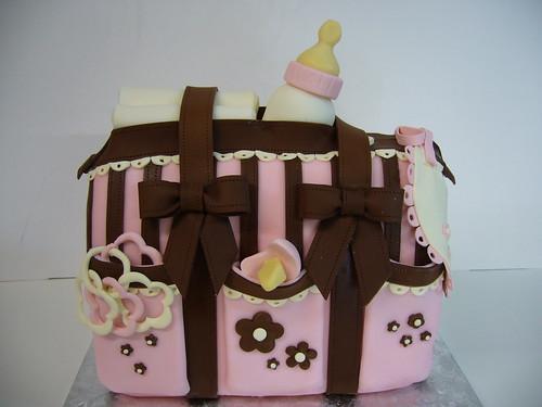 baby girl diaper bag cake i love making genderspecific