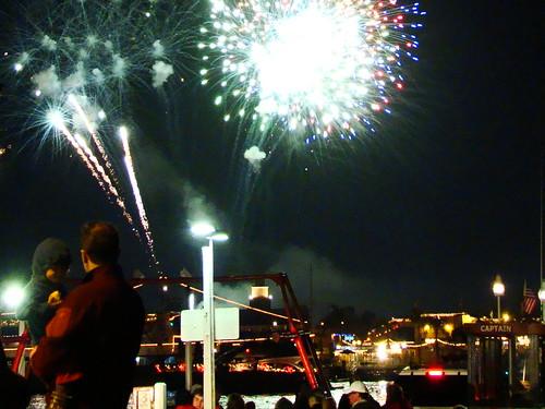 Newport Beach Boat Parade  Fireworks