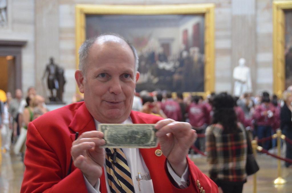 "Us capitol tour guide demonstrating that john trumbull's ""… | flickr."