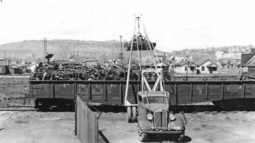 Hoist on truck used for loading scrap | by OSU Special Collections & Archives : Commons