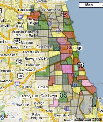 Map of Chicago Community Areas This is a screenshot of a G Flickr