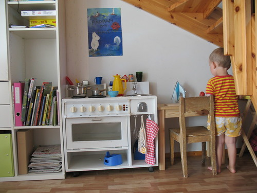 Play kitchen under the stairs | by syko Kajsa