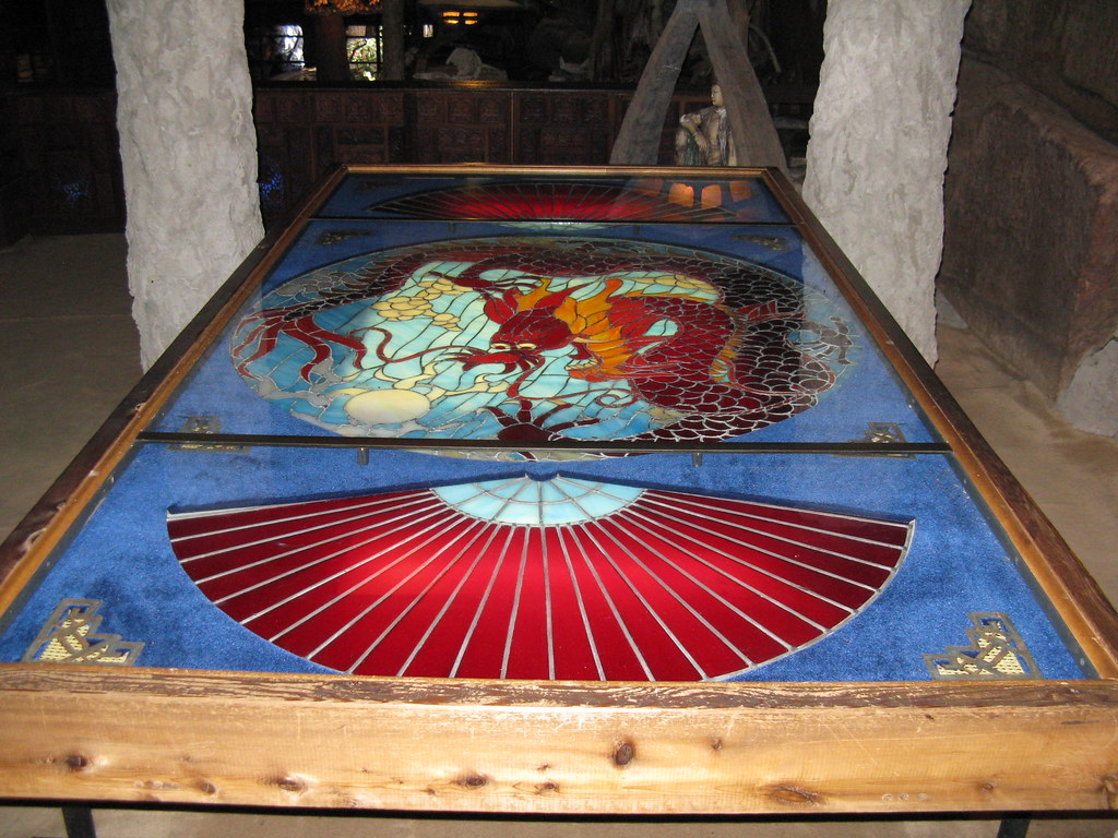 Stained Glass Coffee Table Stained Glass Coffee Table At The House On The Rock Lit F Flickr