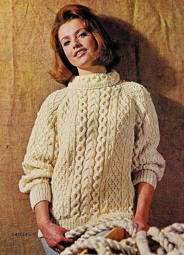 Vintage Knitting Patterns 1960s Irish Fisherman Sweaters