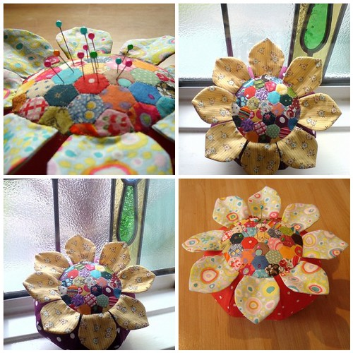 Duniris's hexagon pincushion | by turning*turning