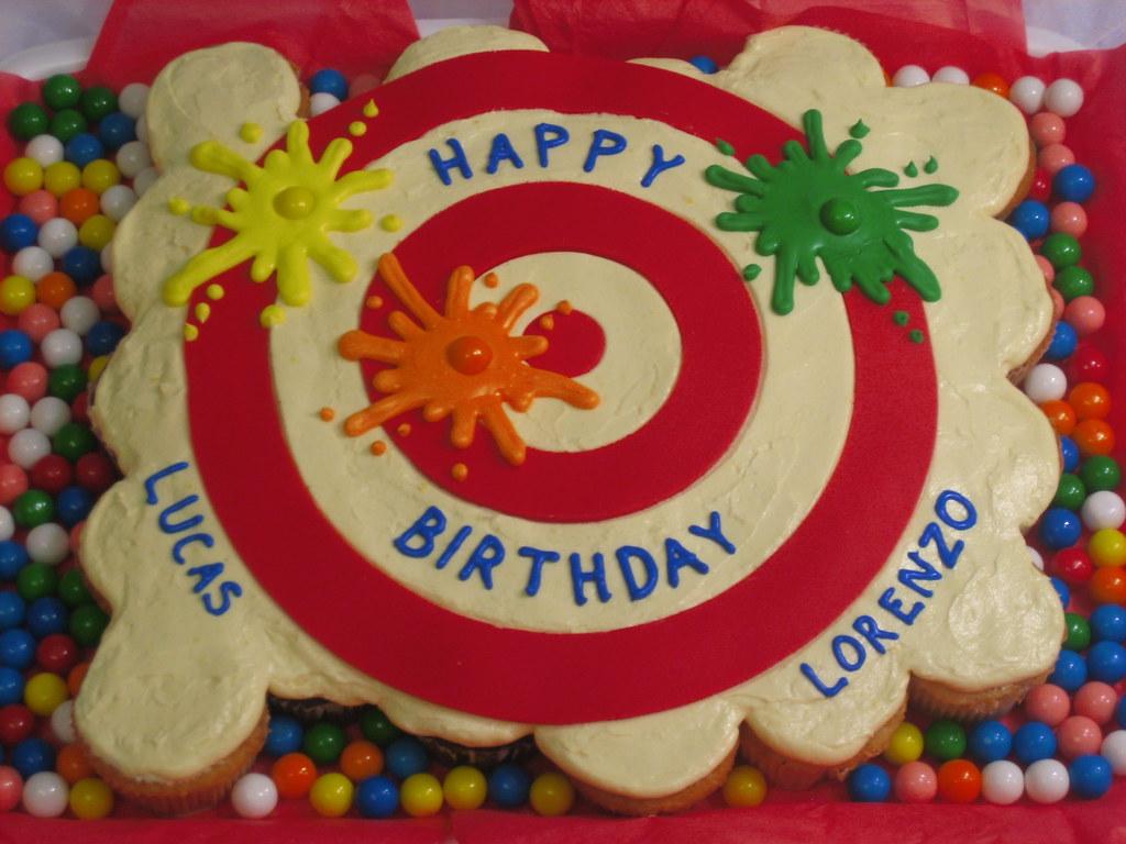 Lucas and Lorenzos Paintball PullApart Cupcake Cake Flickr