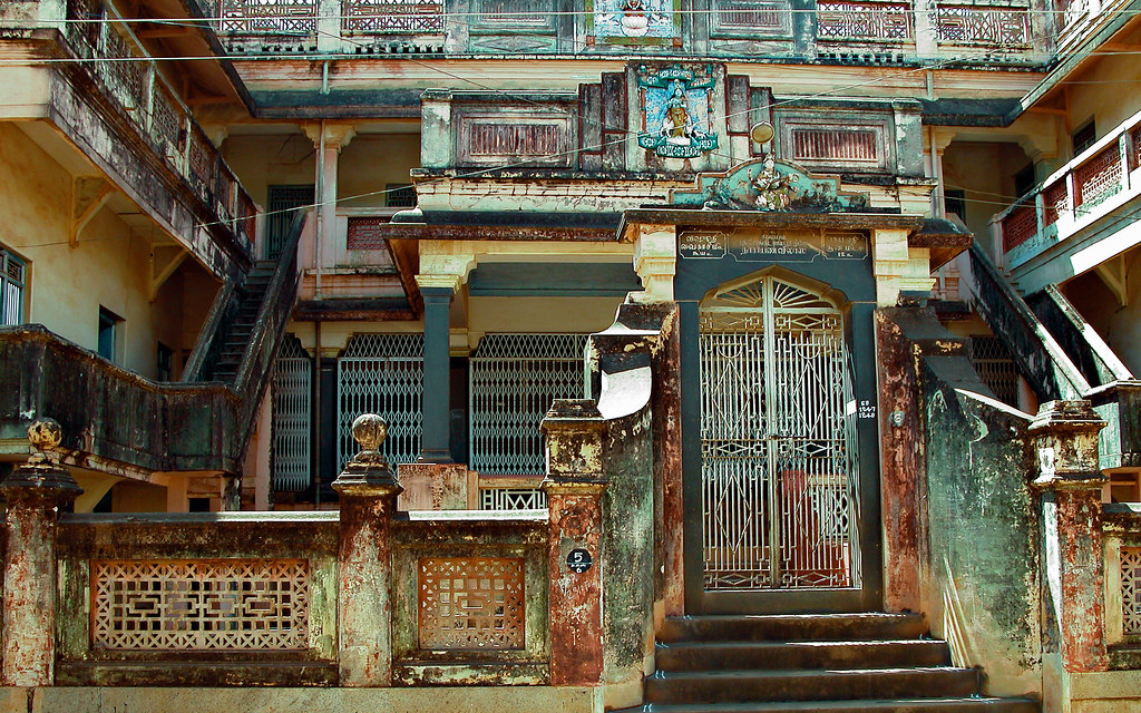 Entrance of this old Chettinad house in Karaikudi | The eros… | Flickr