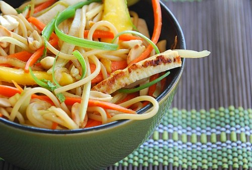 Asian noodle salad with tofu and mango | by Food Blogga