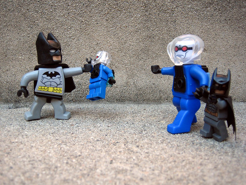 "Batman:  ""Hey ... hey, buddy?  I think there's been a mix-up."" 