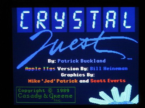 Crystal Quest title screen (Apple IIgs) | by blakespot