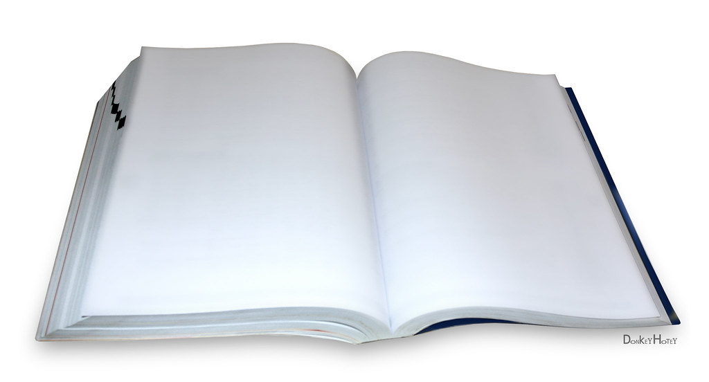 Open Book With Text