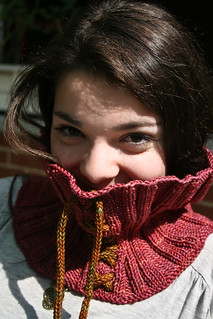 "French Press Cowl in Madelinetosh ""Amber Trinket"" 