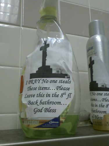 Blessed bathroom supplies | by passiveaggressivenotes