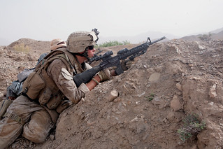 A Marine Fires on Insurgents in Afghanistan | by DVIDSHUB