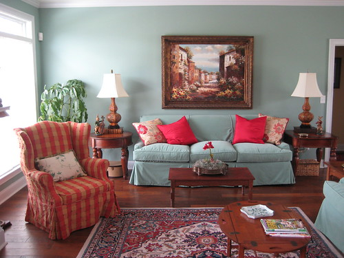 Living Room with Vintage and New | This South Carolina ...
