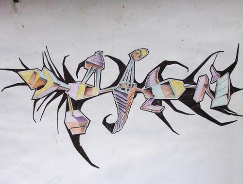 Graffiti art concept paper