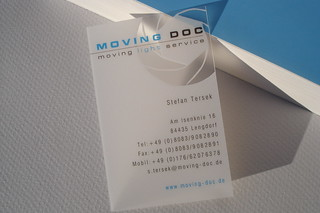 Frosted Translucent Business Card | by bce-online.com