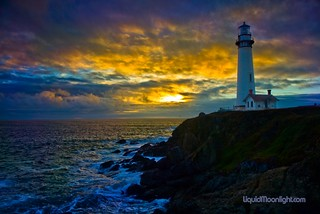 Pigeon Point Lighthouse at Sunset -  A California Lighthouse | by Darvin Atkeson