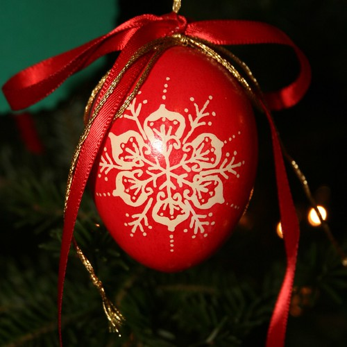 Pysanky Christmas Egg Ornament