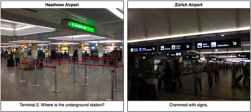 English vs. Swiss: Airport Signs | by greenbird_ontree