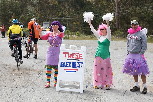 Faeries lifting riders spirits at the top of the climb. | by Gary Rides Bikes