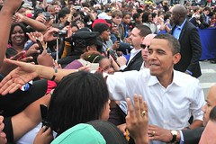 Barack Works the Crowd | by Rusty Darbonne