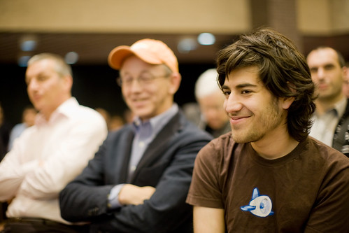 Bob Young & Aaron Swartz | by creativecommoners