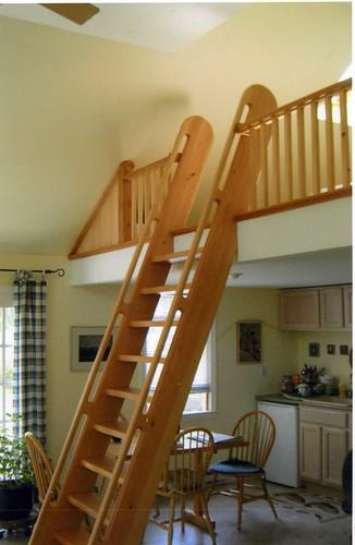 "Loft ladder and railing | Fir ""ship's ladder "". | Flickr"