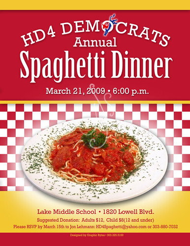09 02 17 2009 HD4 Spaghetti Dinner Flyer (color) | johne1235 | Flickr