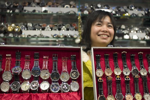 China, Beijing silk market real fake watches | by Nick Kozak - nickkozak.com