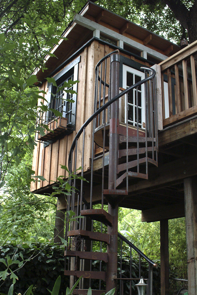 ... Spiral Staircase Tree House | By Greg Hill