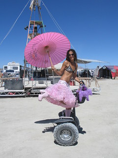 Segway on the playa | by Cat Laine : Painted Foot