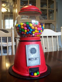 Gumball Machine Cake Gumball Machine Cake I Made For My