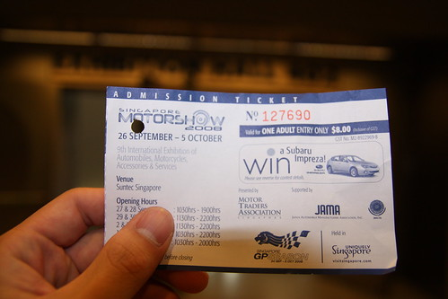 Ticket to Motorshow 08 | by -Arterra-