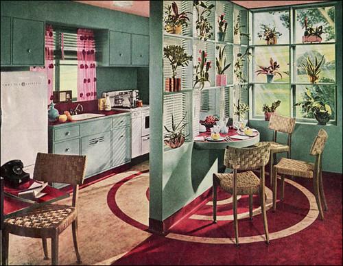 1945 armstrong kitchen this kitchen features a lazy susan flickr - Vintage kitchen features work modern kitchen ...
